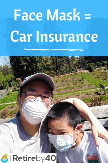 Face Mask = Car Insurance350