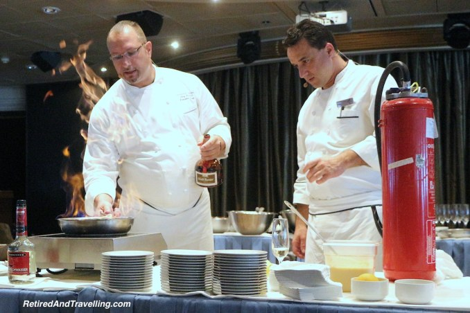 Chefs having fun - Cooking demonstrations onboard a cruise ship.jpg