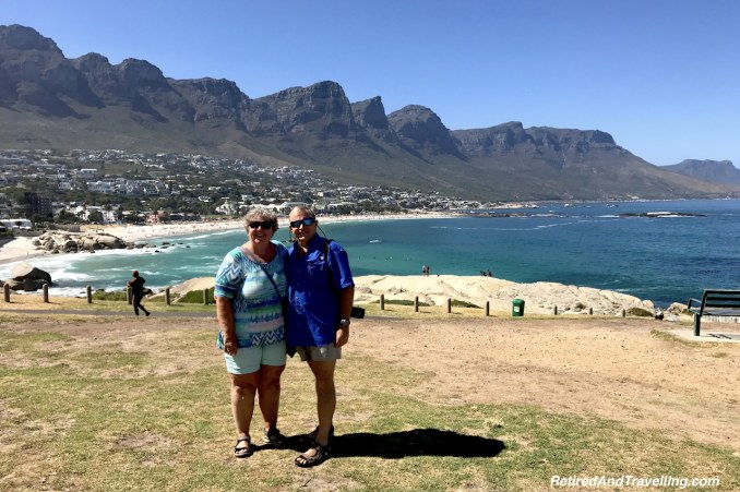 Standing with the stunning 12 Apostles behind us in Cape Town