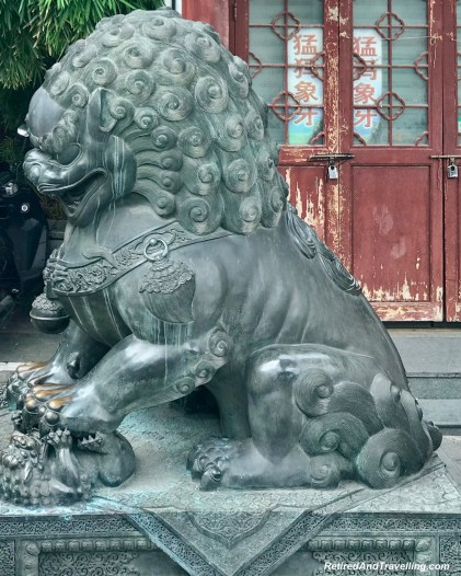 Old Town Shanghai Foo Lion Dogs - Old Town and Yu Gardens in Shanghai.jpg