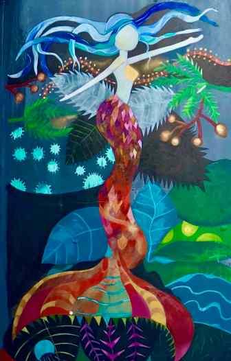 Mermaid Street Art Mural - Outdoor Art In Reykjavik Iceland.jpg
