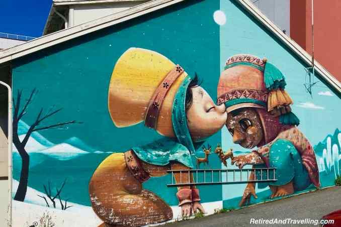 Bodo Street Art Kiss Mural - Scenic Small Towns In Coastal Norway.jpg