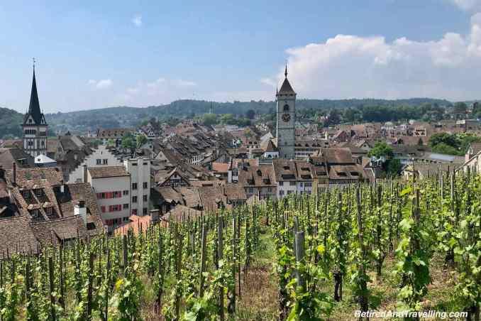 Munot Fortress Castle Stairs View - Schaffhausen And The Rhine Falls From Zurich Switzerland.jpg