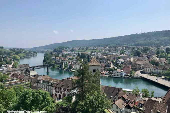 Munot Fortress Castle Top View - Schaffhausen And The Rhine Falls From Zurich Switzerland.jpg