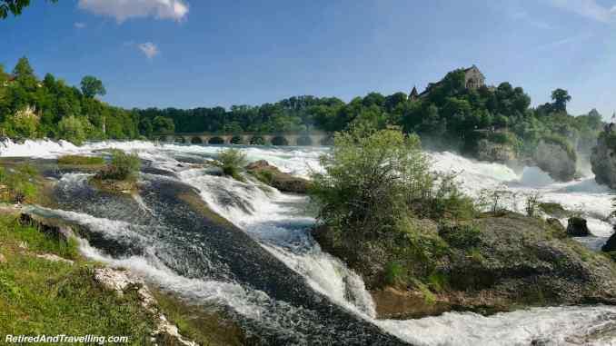 Rhine Falls From Side Close - Schaffhausen And The Rhine Falls From Zurich Switzerland.jpg