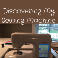 Discovering My Sewing Machine