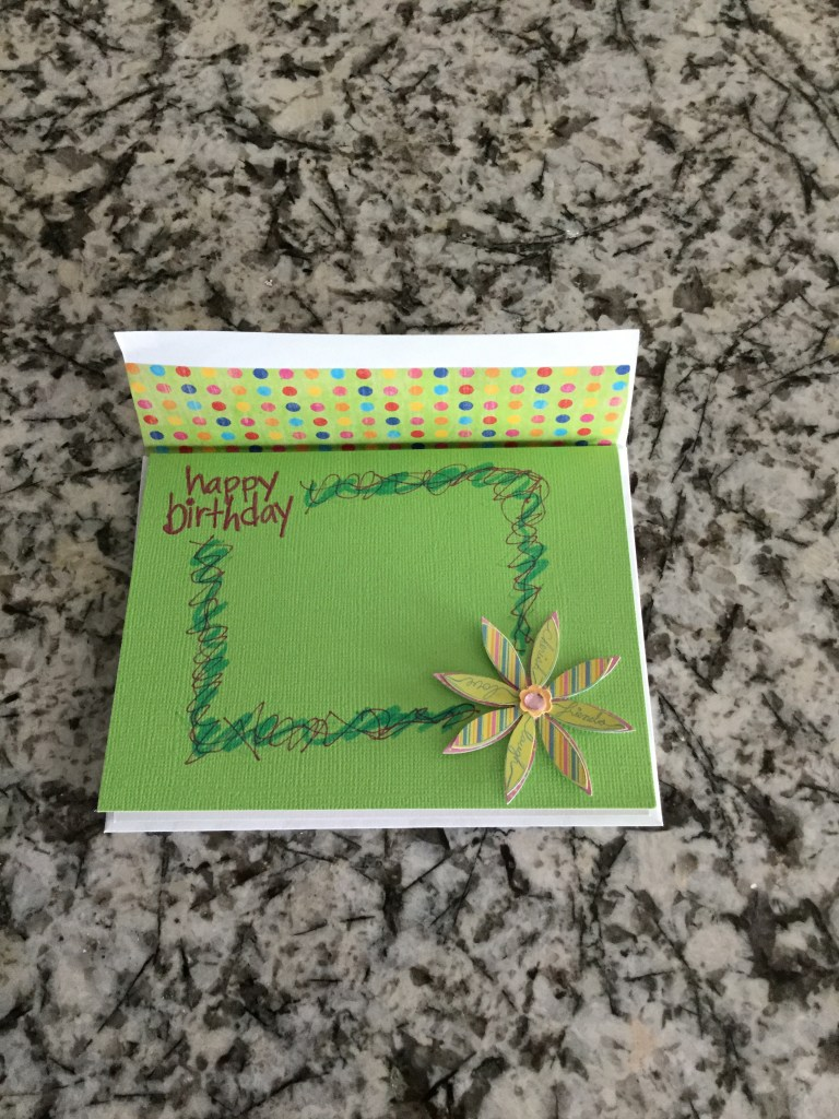 Birthday card - front
