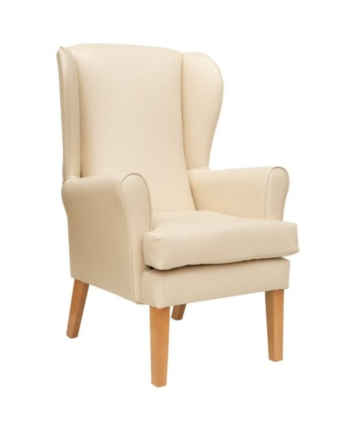 Alisson Orthopedic high seat chair in Manhattan vinyl, Alisson high seat chair Lounge chair - Ready for dispatch today, www.homecarechairs.co.uk , high seat chairs, Fireside Chairs, high back chairs, wingback chair, elderly chairs.