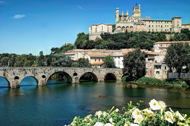 Cathedral on River-Beziers