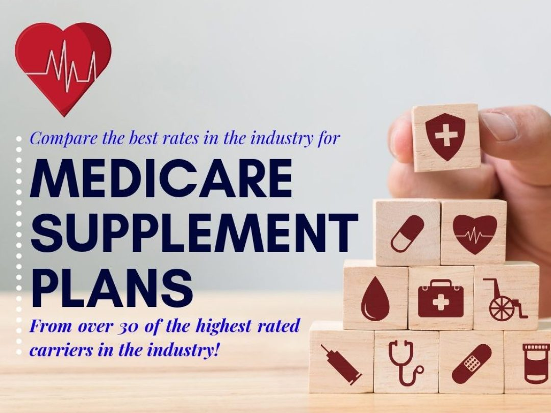 Medicare benefits shown as building blocks with a healthy heart on top