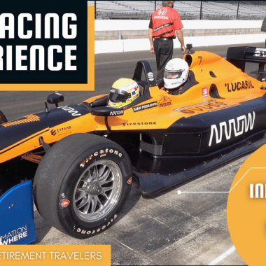 Indianapolis Speedway driving car