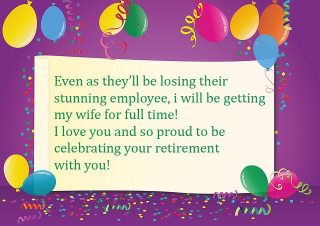 Retirement Wishes For Wife