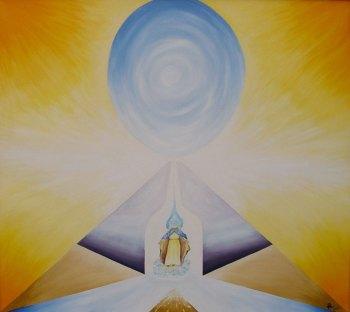 piramide pintura a oleo