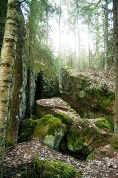 Lohkareikkoa ennen luolaa.