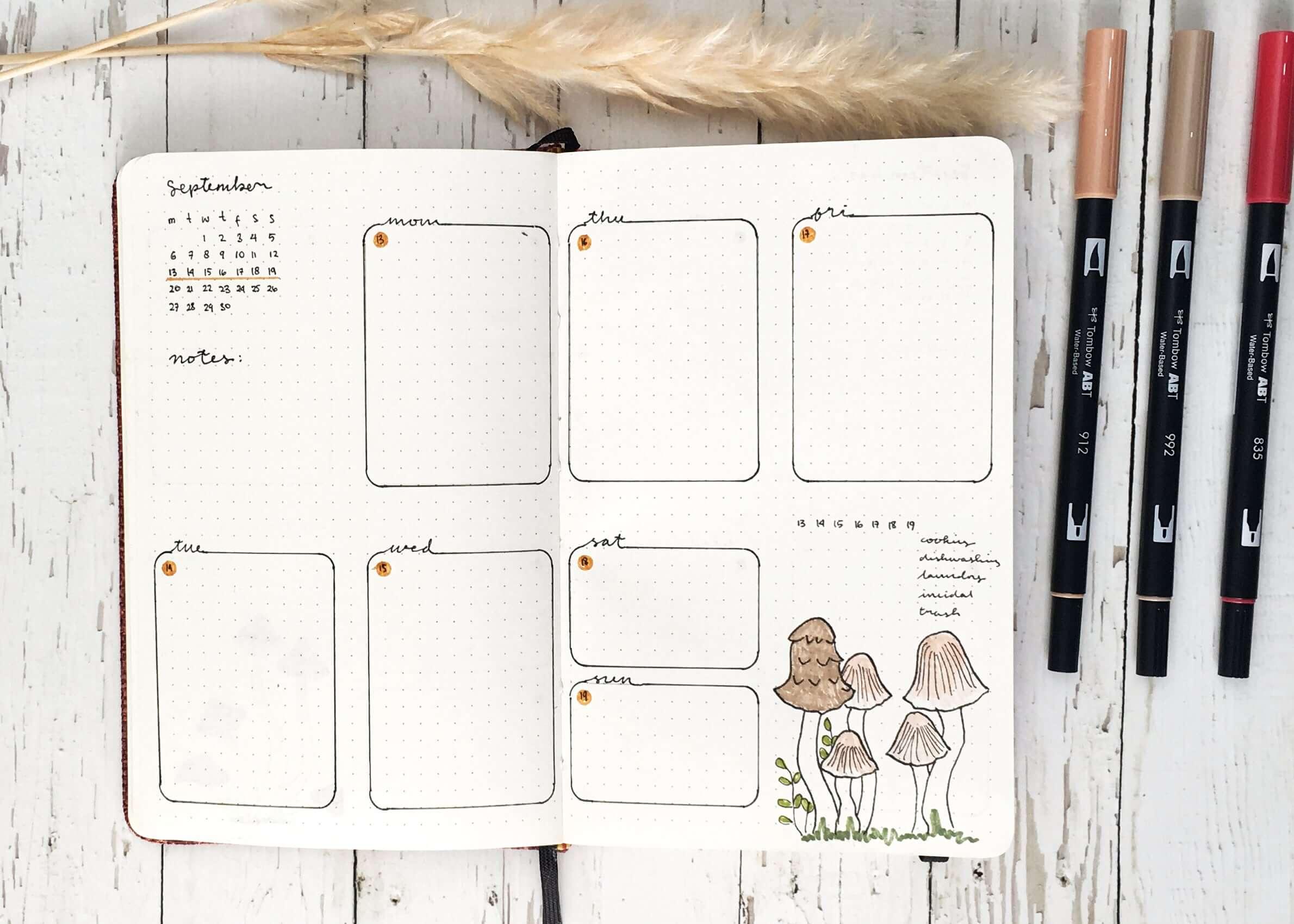 Retno Ika's Bullet Journal Setup for September 2021
