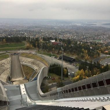 Spectacular views from the Holmenkollen ski jumping hill