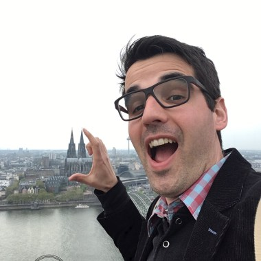 View of Cologne Cathedral from the KölnTriangle observation platform