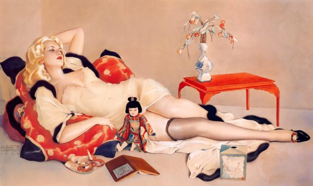 glamorous illustration by alberto vargas