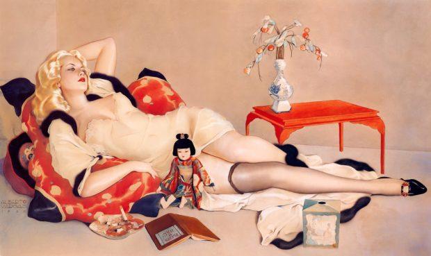 glamorous illustration by alberto vargas