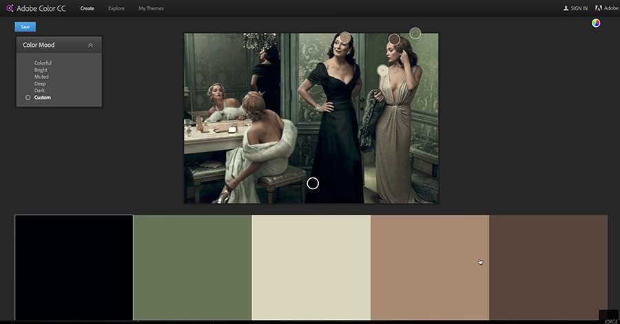 Uploading an image in Adobe Color CC