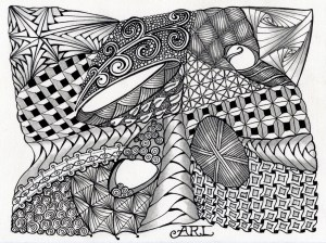 zentangle zentangles zen tangle patterns lighter easy drawing designs doodle unstructured renee ann anime person bilder le