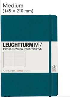 Stay organized with a teal Leuchtturm 1917 dotted journal.