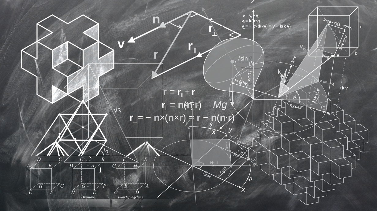 geometry on a chalkboard