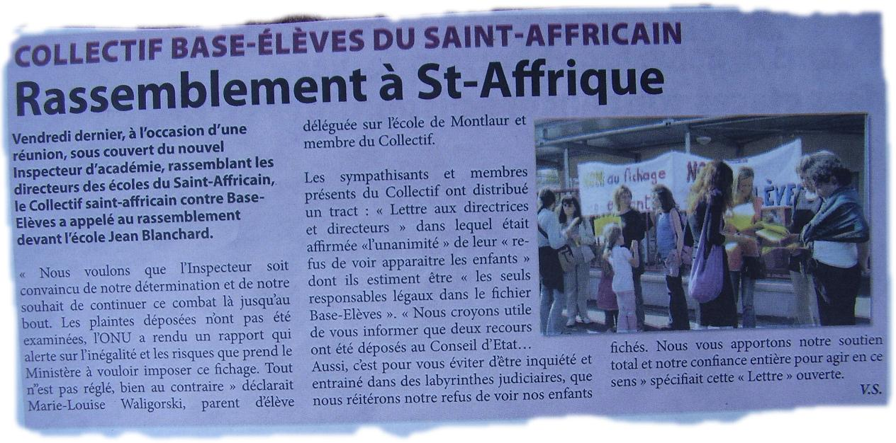 Rentrée 09 St-Affrique 2