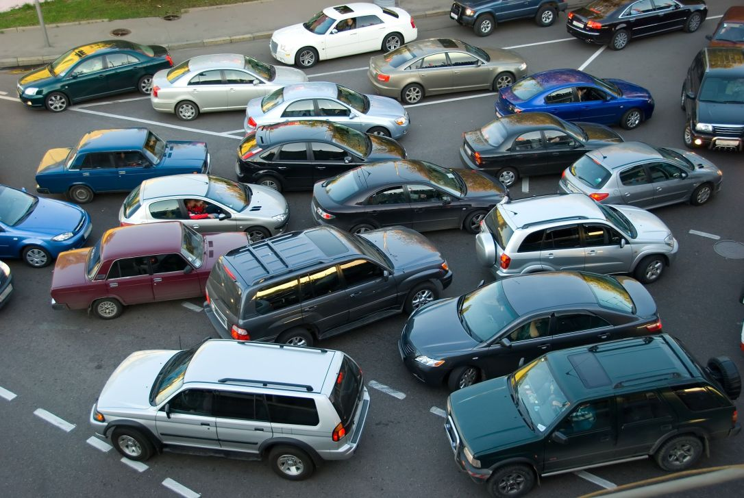 2090490 - traffic jam on the road