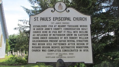 St. Paul's Episcopal Church Historical Marker