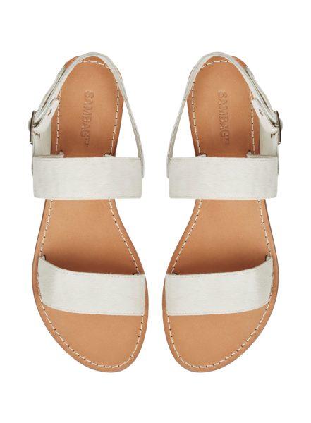 Sambag, Ruby Leather Sandal in White