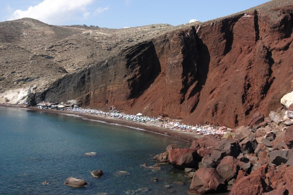 Greece Red Beach