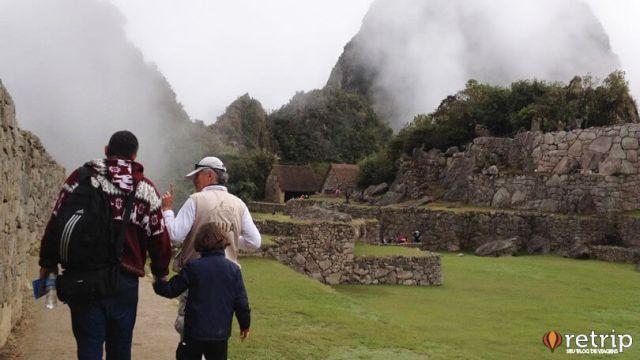 Machu Picchu com filhos