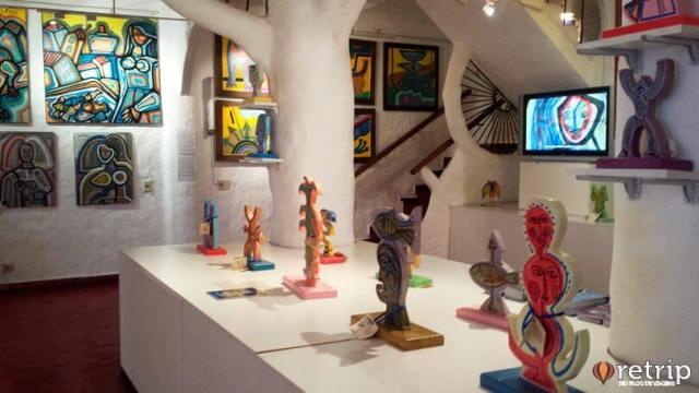 Galeria de Arte em Casapueblo, Punta Ballena no Uruguai