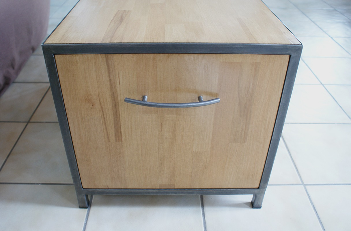 Cr ation d 39 une table basse s r mesure retro factory - Creer une table basse ...