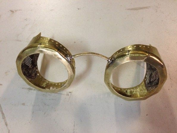 Fabrication lunettes Steampunk
