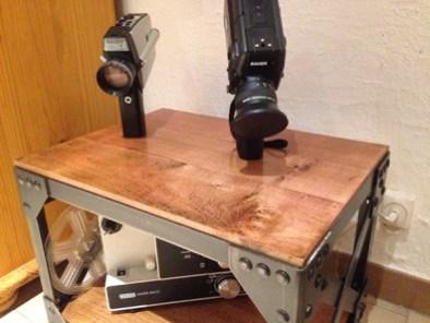 Petit meuble industriel sur roulettes