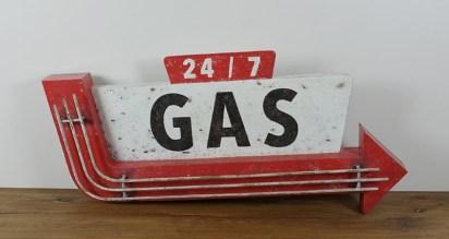 Enseigne vintage GAS