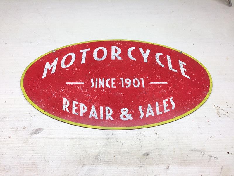 Plaque en métal vintage motorcycle