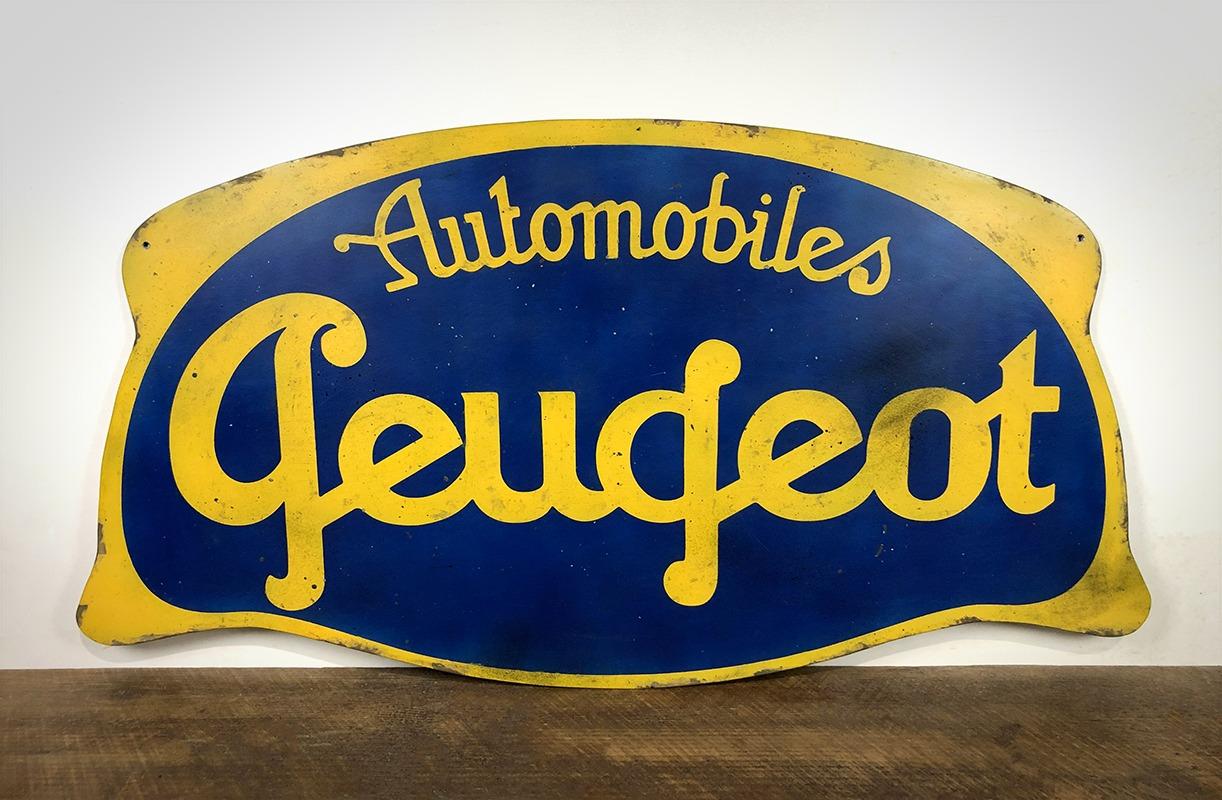 Plaque Peugeot