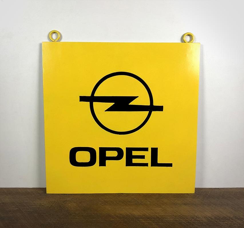 Plaque en tôle peinte Opel