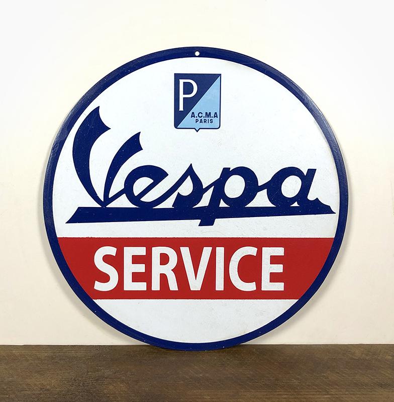 Plaque Vespa Service