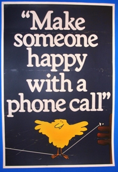 Buzby Poster - make someone happy with a phone call