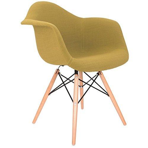 Stuhl daw rembourr 39 e gelb olive natur retro for Design stuhl daw