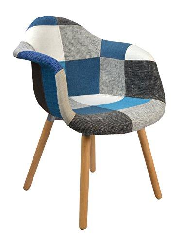tsideen Design Klassiker Patchwork Sessel Retro 50er Jahre Barstuhl Wohnzimmer Bro Kchen