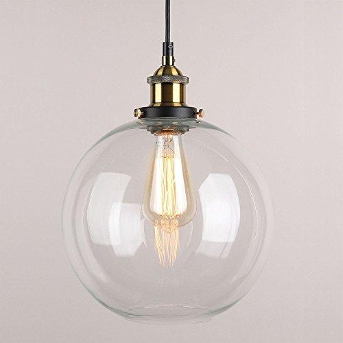 Maxmer Industrie Pendelleuchte Retro Decke Hngelampe Vintage Led Pendellampe mit Glas Shade