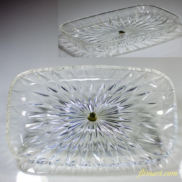 昭和レトロ佐々木グラス長皿R5357