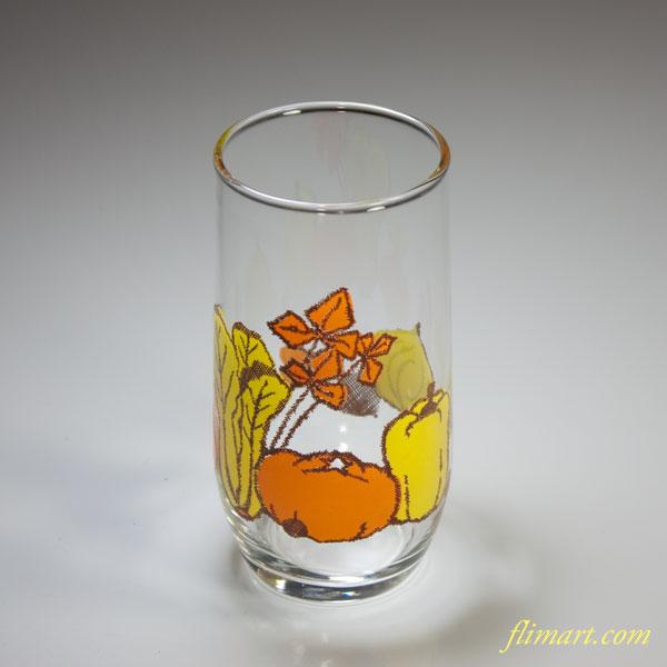 昭和レトロアデリア野菜柄ガラスコップ