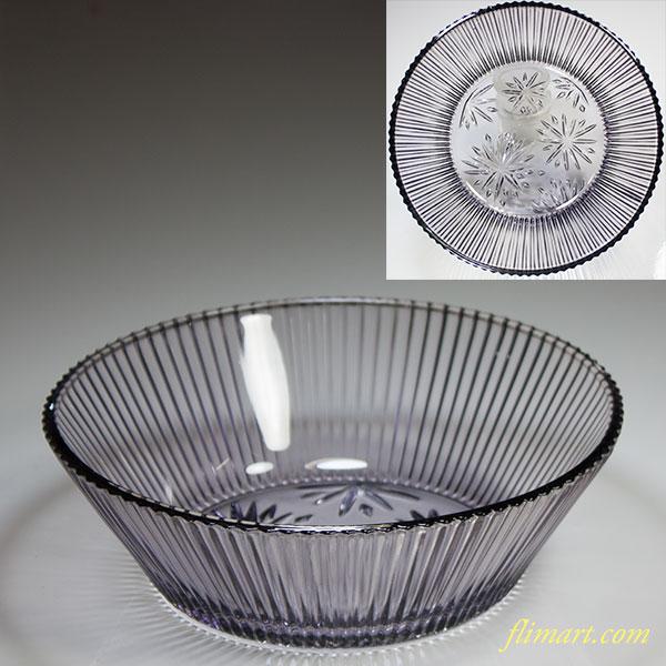 昭和レトロ紫ガラスボウルR5025