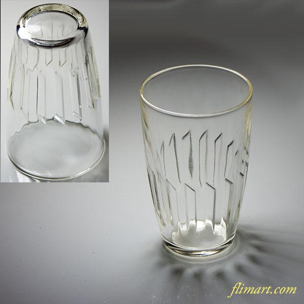 昭和レトロアデリアガラスコップR5166
